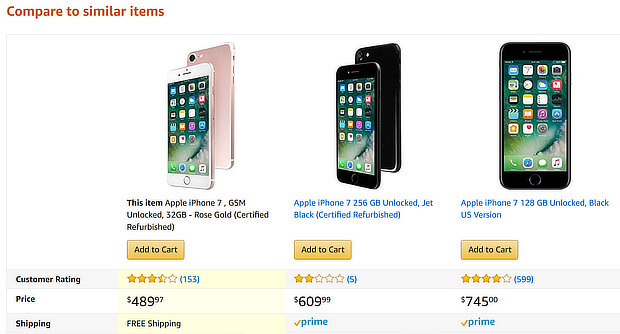 ecommerce-upsell-examples-phone-comparison-amazon